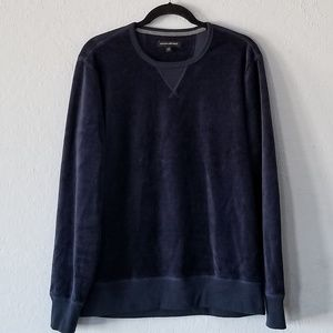 Banana Republic Navy Velour Sweatshirt Medium